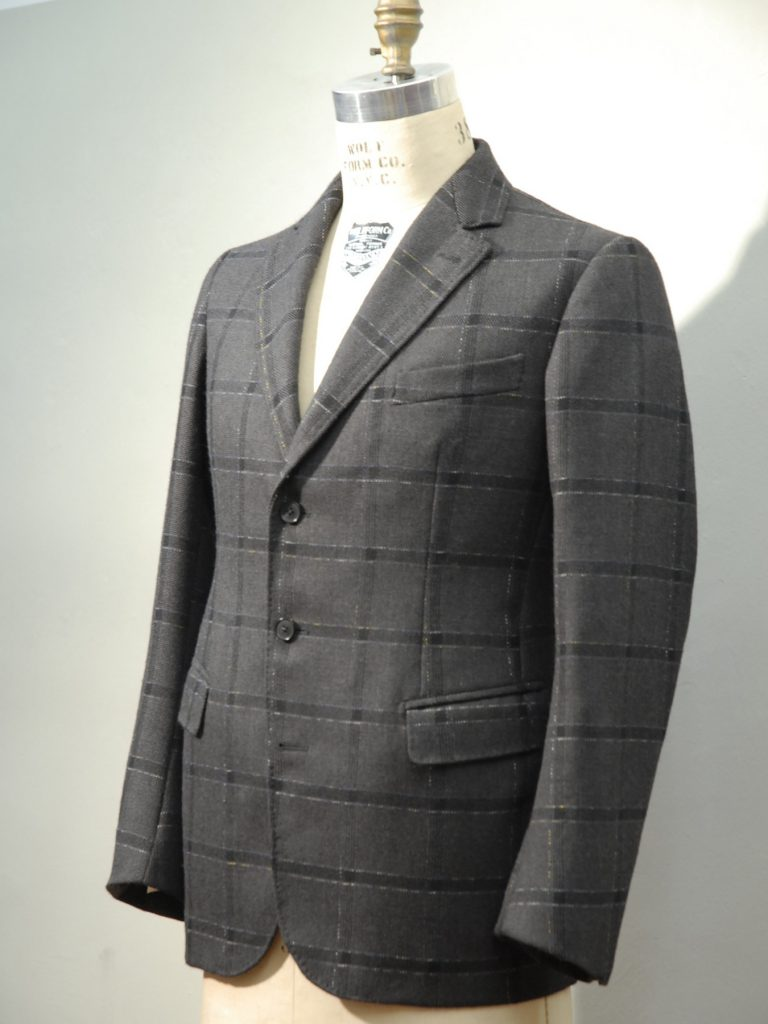 Anzug Grey Spark, Merino Wolle/Japanische BW